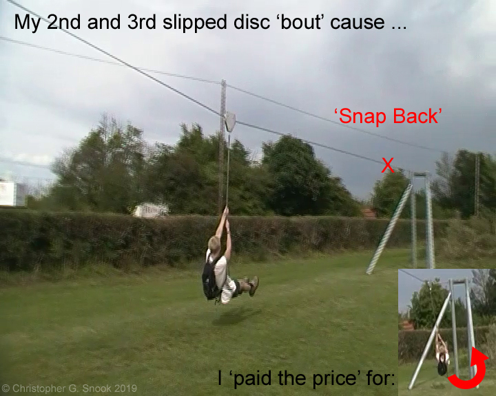 The zip wire 'nemesis' of my bad back and its three slipped discs!